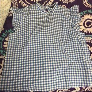 PLUS Gingham blouse